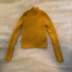 Urban Outfitters Gold Cropped Sweater - S